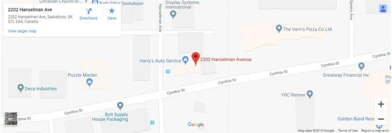 Map to Harry's Auto Service | auto repair saskatoon